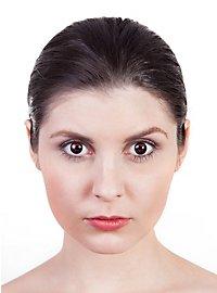 Blutendes Auge schwarz Kontaktlinsen