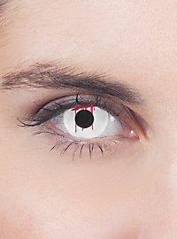 Blutendes Auge weiß Kontaktlinsen
