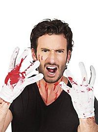 Blutige Handschuhe