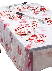 Blutige Tischdecke