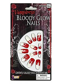 Blutige Vampir-Fingernägel