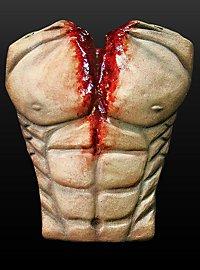 Blutiger Oberkörper aus Latex
