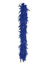 Boa en plumes bleu