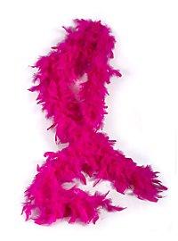 Boa en plumes rose