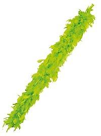Boa en plumes vert citron