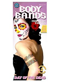 Body Bands Day of the Dead Temporary Tattoos