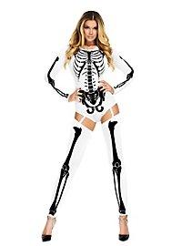 Body squelette blanc avec jambières