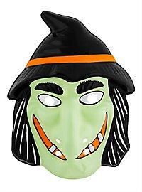 Böse Hexe Kindermaske aus Kunststoff