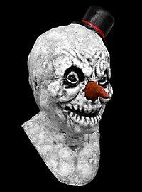 Böser Schneemann Maske aus Latex