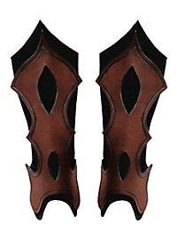 Beinschienen - Bogenschütze braun