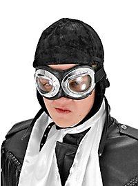 Bonnet d'aviateur noir