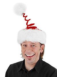 Bonnet de Noël tire-bouchon