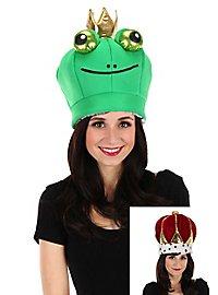 Bonnet de roi grenouille réversible