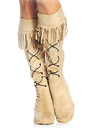 Boot gauntlets Indian woman