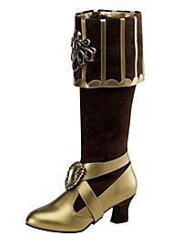 Bottes de flibustière femme luxe marron version