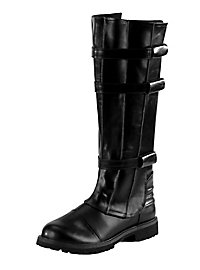 Bottes de guerrier de science-fiction noires