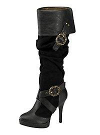 Bottes de pirate femme luxe noires
