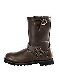 Bottines steampunk homme marron