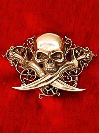 Boucle de ceinture de capitaine pirate