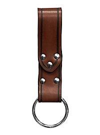 Boucle de ceinture marron avec anneau