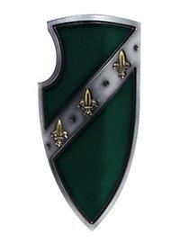 Bouclier de chevalier du Graal vert