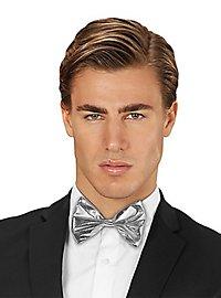 bow tie silver metallic