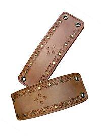 Bracelets en cuir marron clair