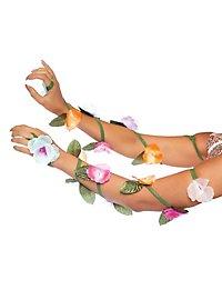 Bracelets tiges de fleurs