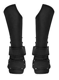Bras d'armure d'éclaireur avec protège main noirs