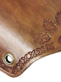 Bras d'armure en cuir feuille de chêne