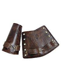 Bras d'armure nœuds celtiques en cuir