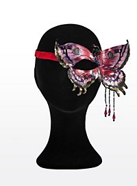 Rot-violetter Schmetterling Halbseitige Augenmaske aus Leder