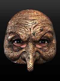 Braune Hexenmaske aus Latex