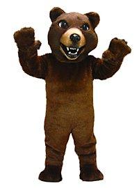 Brauner Grizzly Maskottchen
