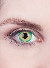 Brazil Flag Contact Lenses