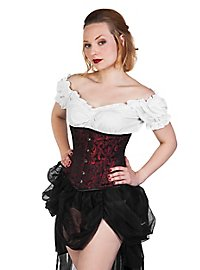 Brocade Corset black & red