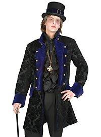 Brocade Waistcoat black-purple