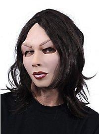Brünette Diva Maske aus Latex