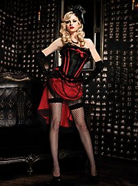 Burlesque Corset wine red