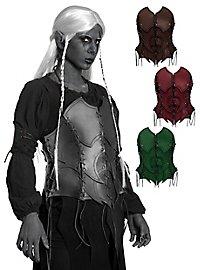 Bustier d'elfe noire en cuir