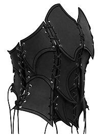 Bustier d'elfe noire en cuir noir