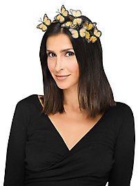 Butterfly hairband gold