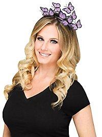 Butterfly hairband purple