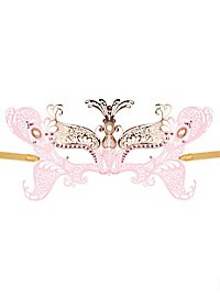 Butterfly venetian mask made of metal