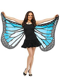 butterfly wing cloth turquoise