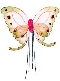 Butterfly Wings pink & green