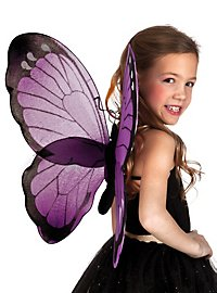 butterfly wings small black-violet