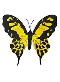 butterfly wings small black-yellow