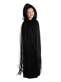 Cape de fantôme noire pour enfant