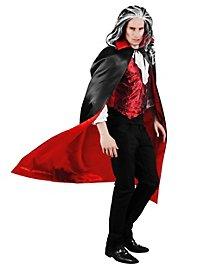 Cape de vampire noir et rouge réversible